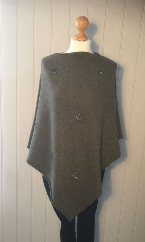 Eight  Star Poncho - Khaki Green